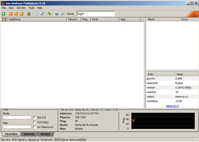 Samp - Каталог файлов - Сервер самп